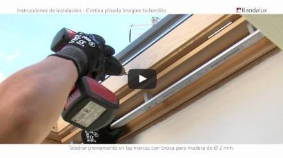 Instalación de cortinas plisadas