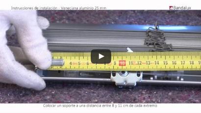 instalación veneciana de aluminio